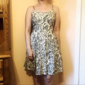 Old Navy Printed Fit & Flare Dress